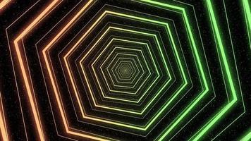 animação colorida giratória do hexágono