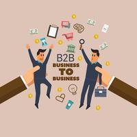 B2B Business illustrations vector