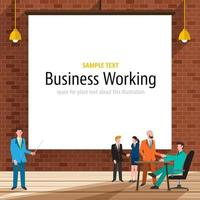 ilustraciones de trabajo empresarial vector