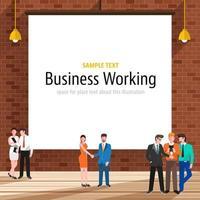oficina de concepto de negocio vector
