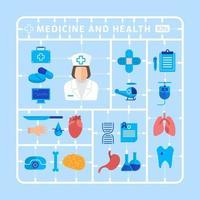 elemento de medicina y salud vector