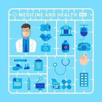 medicine and health equipment vector