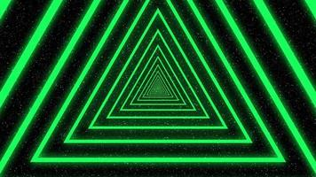 animação de loop de triângulo colorido video