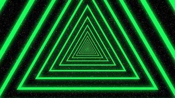 animação de loop de triângulo colorido