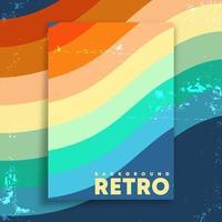 cartel de diseño retro con textura grunge vintage y rayas de colores. ilustración vectorial vector