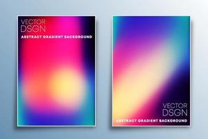 Set of gradient texture design for background, wallpaper, flyer, poster, brochure cover, typography, or other printing products. Vector illustration