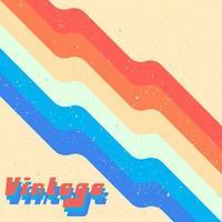 Fondo de diseño retro con textura grunge vintage y líneas. ilustración vectorial vector