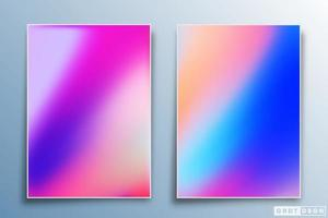 Gradient texture design set for background, wallpaper, flyer, poster, brochure cover, typography, or other printing products. Vector illustration
