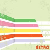 Retro design background with vintage grunge texture and lines. Vector illustration