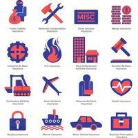 Icon set insurance vector