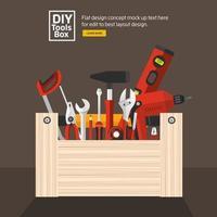 DIY Tools Box vector