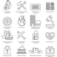 Icon outline vector insurance