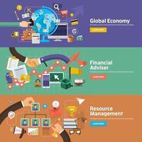 banner de ilustración de marketing digital vector