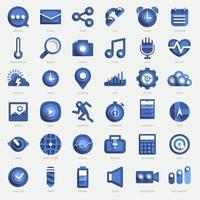 Icon set digital device vector