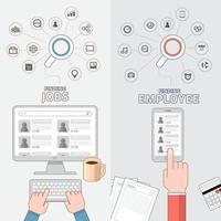 ilustraciones del concepto de contratación vector