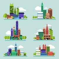 vector conjunto ciudad
