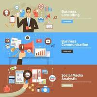 digital marketing banner illustration vector