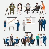 set people business working vector