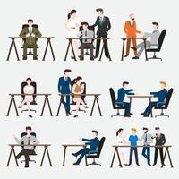 Set Peoples Working vector