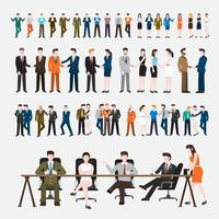 Set people business illustrations vector