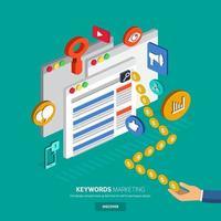 SEO keyword marketing vector