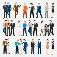 Set people business vector illustrations