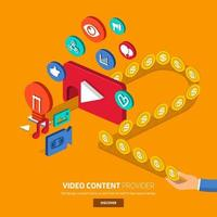 Video content creator concept vector