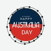illustration of a background for Happy Australia Day. vector
