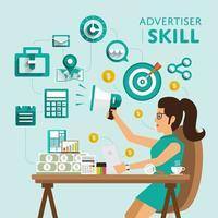 advertising skill job vector