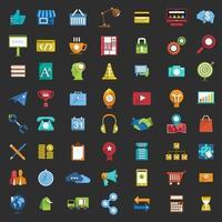 Icon set digital marketing vector