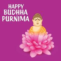 illustration of a background for Happy Buddha Purnima vector