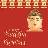 illustration of a background for Happy Buddha Purnima. vector