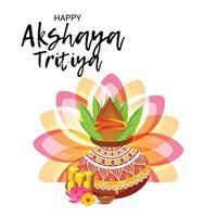 banner de celebración del festival de akshaya tritiya vector