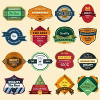 Set vector badges