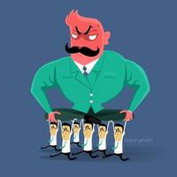 Bad boss leader illustration