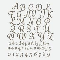 Alphabet hand writing a-z vector