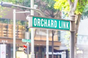 Orchard Link sign in Singapore