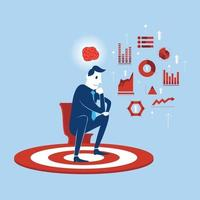 Digital marketing data analyze vector