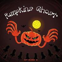 Ghost pumpkins illustrations vector