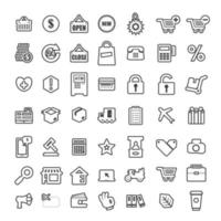 conjunto de iconos promoción tienda online vector