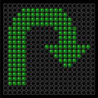 Sign U-turn green vector