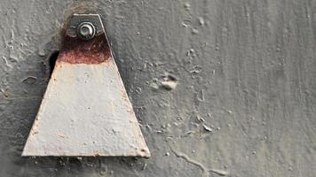 Rusty scratched wall photo