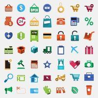 Set vector digital marketing