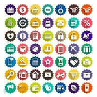Vector icon set digital marketing