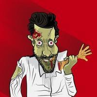 ilustración vectorial zombie vector