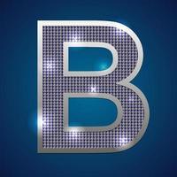 alfabeto parpadeo b vector