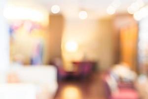 Fondo abstracto del vestíbulo del hotel borroso foto