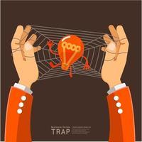 Illustration hand trap idea vector