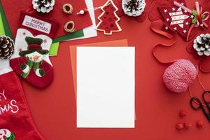 Christmas card template photo