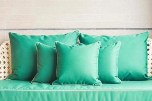 Sofa pillow decoration photo